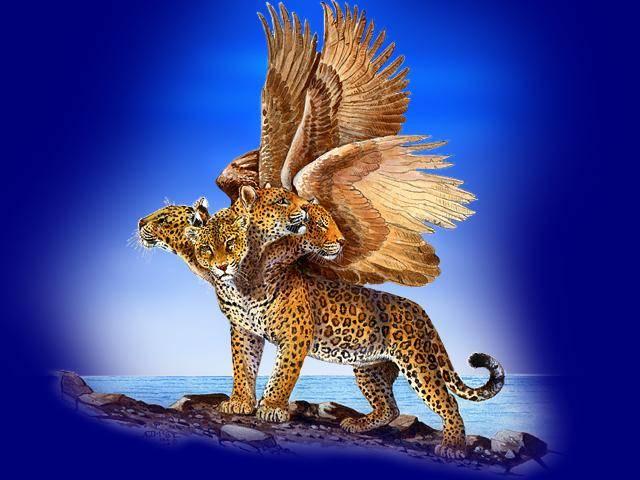 Bildergebnis für the four headed leopard in the book of daniel symbolized