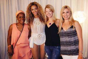 Adrienne Haslett-Davis  with Beyonce and   Liz (Kaplan) Harmon