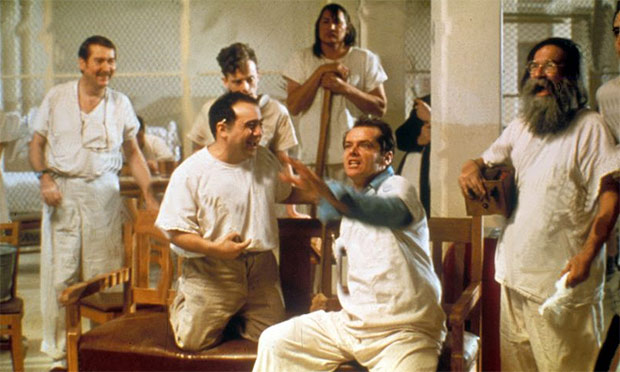 an analysis of the main characters in the movie one flew over the cuckoos nest Scene analysis: one flew over the cuckoo's nest  summary of the scene: miss  ratched conducts a group meeting when mcmurphy  throughout the film, as  mcmurphy learns about the rules and restrictions, he keeps.